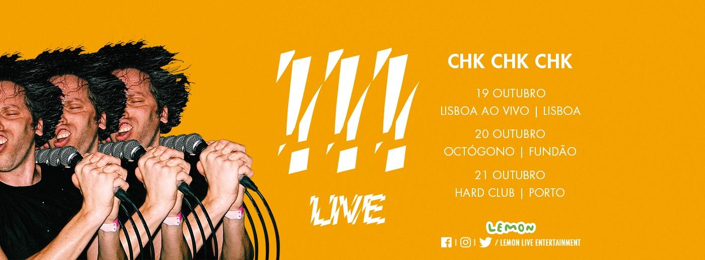 Chk Chk Chk apresentam novo álbum com concerto em Portugal