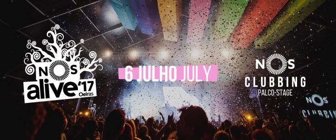 Palco NOS Clubbing revela cartaz de dia 6 de Julho